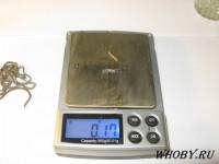 Взвешиваем серебро 0,15...0,18 грамм.