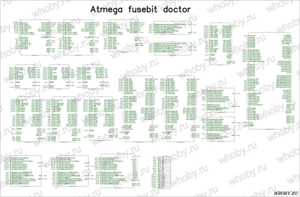 Схема Atmega fusebit doctor