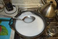 Греем раствор до полного растворения мыла