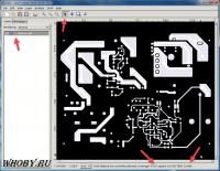 Окно программы gerbv | Площадь проводников и ток
