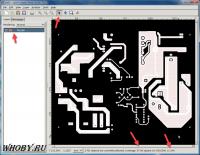 Окно программы gerbv | Площадь проводников и требуемый ток