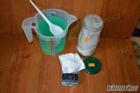 Взвешиваем 10 грамм ацетата натрия