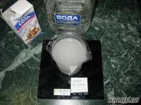 Заливаем соль NaCL водой до 470 мл