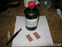 Текстолит полностью покрылся слоем химической меди