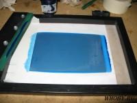 Нанесение жидкого фоторезиста на печатную плату