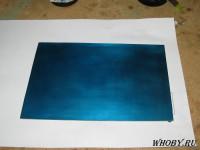 Нанесенный жидкий фоторезист на печатную плату