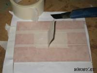 Оклейка печатной платы бумажным скотчем