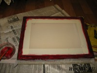 Клеим сетку клеем для трафаретной сетки KIWOBOND 1100