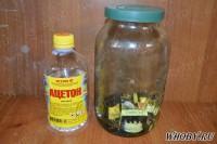Замачиваем трансформаторы в ацетоне