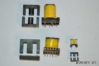 Разобранные импульсные трансформаторы после замачивания в ацетоне и кипячения в воде