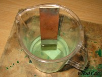 Смываем олово в растворе | Раствор для удаления олова