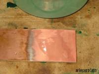 Внешний медной поверхности после смывки олова | Раствор для удаления олова