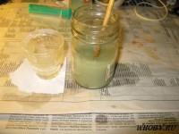 Смешиваем растворы серебра и желтой кровяной соли