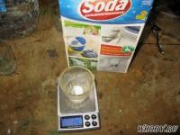 Взвешиваем кальцинированную соду | Химическая металлизация