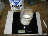 Взвешиваем соль NaCl | Химическая металлизация