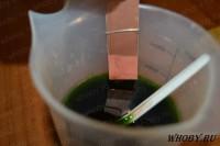 Подготавливаем текстолит для травления