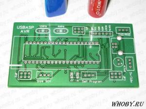 Печатная плата программатора AVR